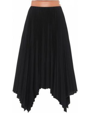 Плиссированная юбка миди пачка Loewe
