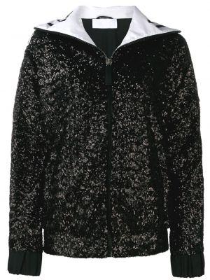 Спортивная куртка черная с пайетками No Ka 'oi