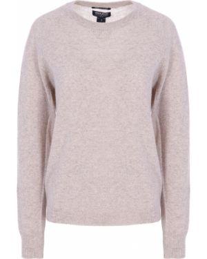 Бежевый кашемировый свитер с круглым вырезом с поясом Woolrich