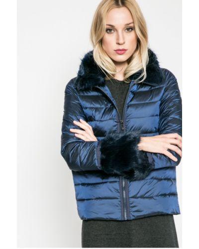 Утепленная куртка с мехом прямая Trussardi Jeans