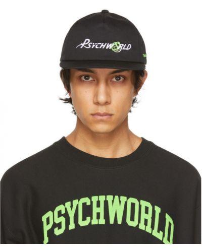 Czarna czapka z haftem Psychworld