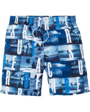 Плавки-боксеры синие с карманами Bonprix