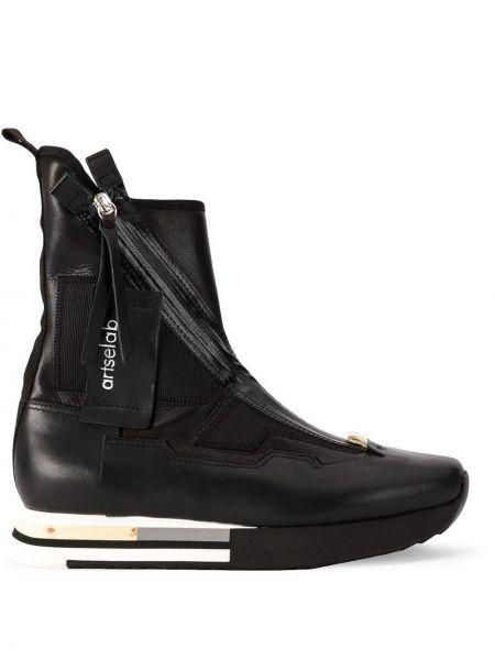 Черные высокие кроссовки на молнии Artselab
