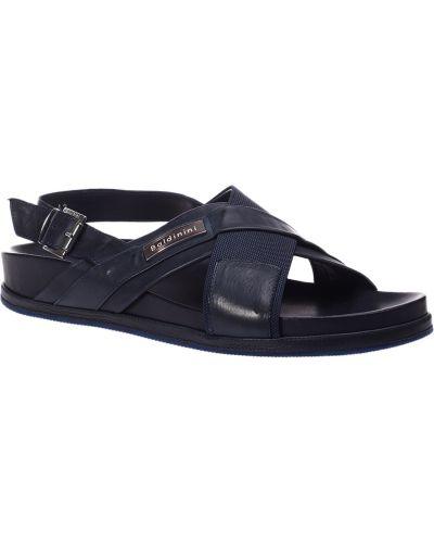 Синие кожаные сандалии Baldinini