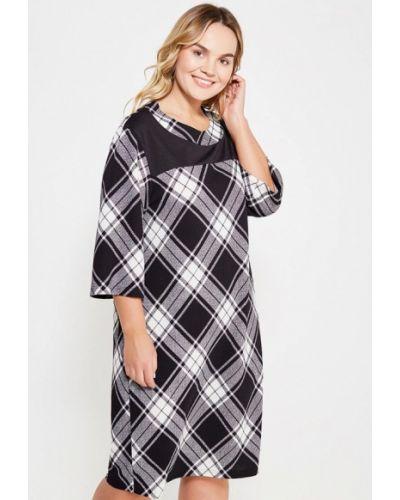 Платье осеннее черно-белое Артесса