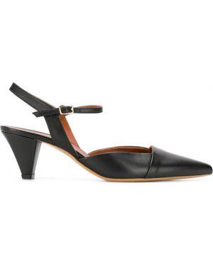 Туфли на каблуке черные на низком каблуке Michel Vivien