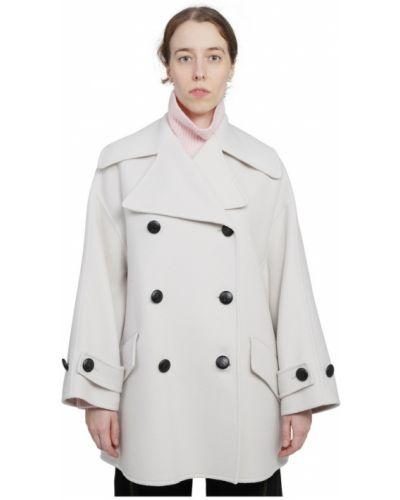 Beżowy płaszcz Lanvin