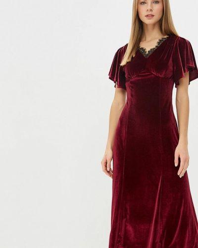 Вечернее платье осеннее красный Adl