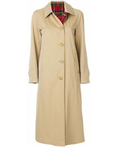 Длинное пальто двустороннее с воротником шерстяное Burberry
