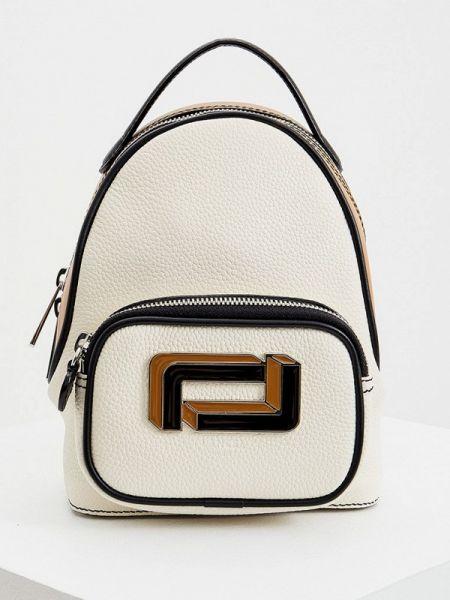 Белый рюкзак из натуральной кожи Lancel