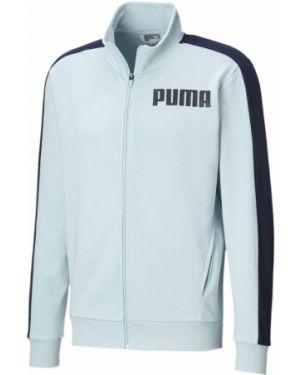 Свободная синяя спортивная толстовка на молнии свободного кроя Puma