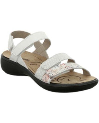 Białe sandały skorzane Romika