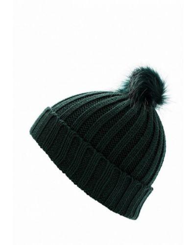 Зеленая шапка с помпоном Colin's