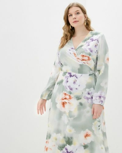 Зеленое платье с запахом Svesta