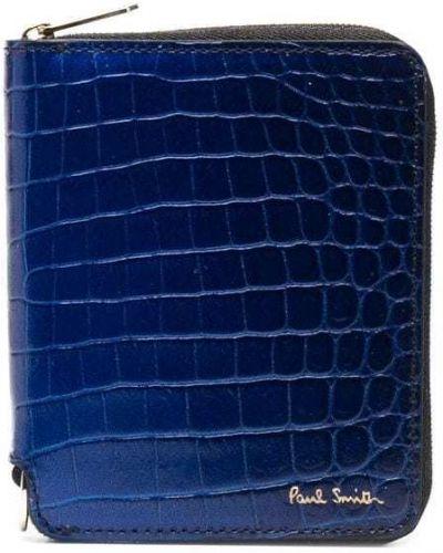 Синий кошелек из крокодила Paul Smith