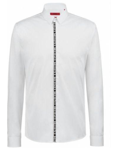 Biała koszula z długimi rękawami Hugo Boss
