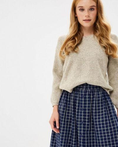 Коричневый пуловер 2018 Naf Naf