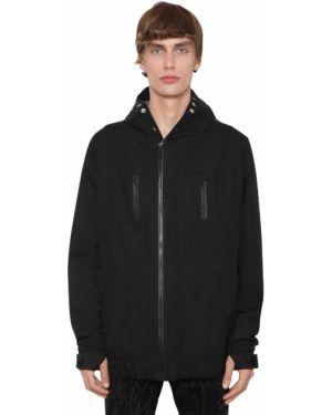 Czarna kurtka z kapturem z nylonu Takahiromiyashitathesoloist