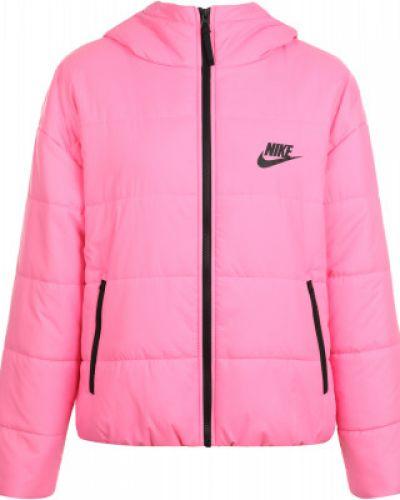 Теплая свободная розовая зимняя куртка свободного кроя Nike