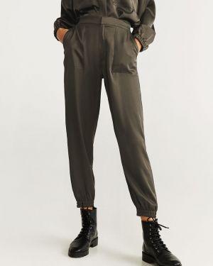 Szerokie spodnie na gumce skromny Mango