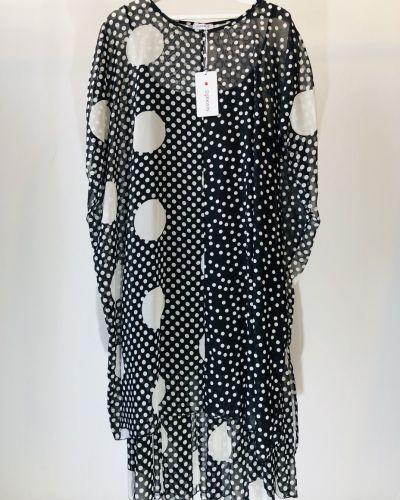 Платье в горошек - белое Darkwin