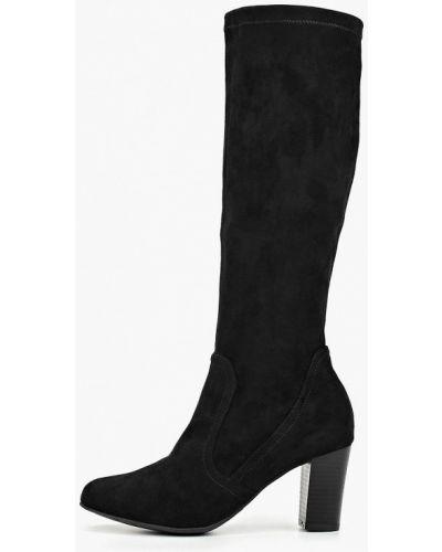 Ботинки на каблуке черные осенние Caprice