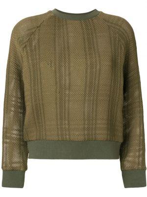 С орнаментом свитер с вышивкой хаки Mr & Mrs Italy