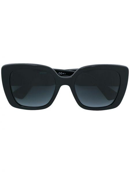 Прямые муслиновые черные солнцезащитные очки квадратные Moschino Eyewear