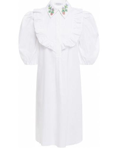 Хлопковое белое платье-рубашка стрейч Vivetta