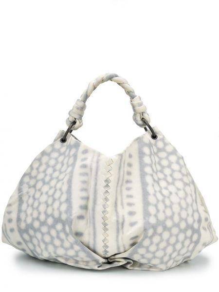 Кожаная белая плетеная кожаная сумка Bottega Veneta Pre-owned