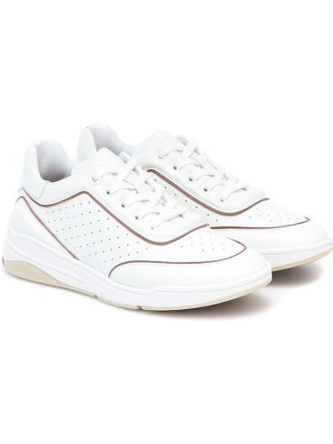 Повседневные белые кожаные кроссовки из натуральной кожи на торжество Loro Piana