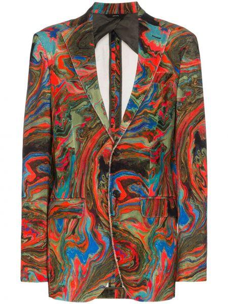 Зеленый бархатный пиджак с карманами R13