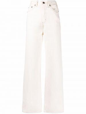 Белые широкие джинсы с заплатками на шпильке Levi's®