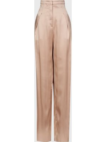 Шелковые брюки - бежевые Rochas