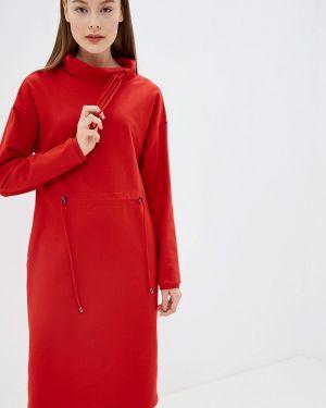 Платье платье-толстовка красный Tantino