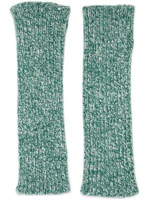 Zielone z kaszmiru rękawiczki bez palców Antonella Rizza