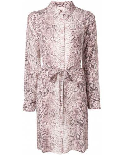 Платье миди розовое на пуговицах Gold Hawk