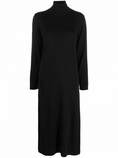 Платье макси с длинными рукавами - черное Seventy