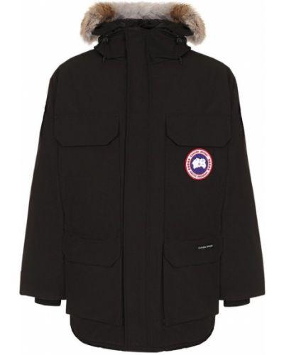 Куртка с капюшоном утепленная черная Canada Goose