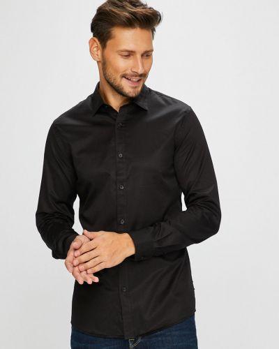 Рубашка с длинным рукавом однотонная хлопковая Only & Sons