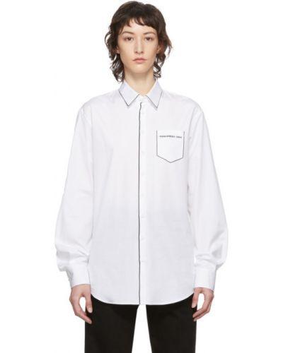 Рубашка с длинным рукавом в клетку с принтом Dsquared2