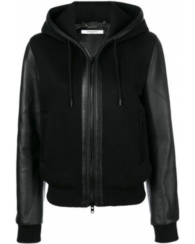Куртка с капюшоном длинная кожаная Givenchy