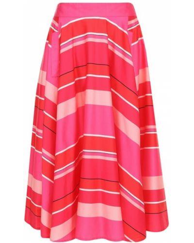 Хлопковая юбка-миди с ярким принтом Weill