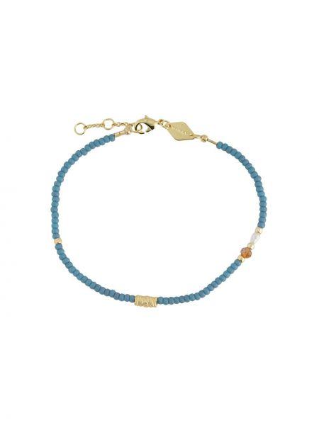 Синий золотой браслет Anni Lu