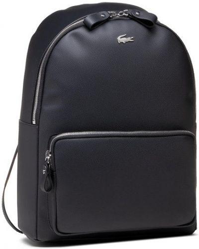 Czarny plecak Lacoste