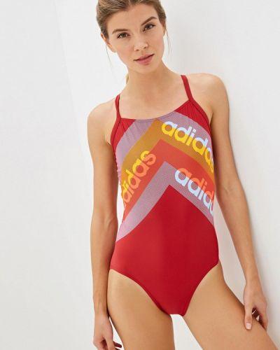 Спортивный купальник красный Adidas