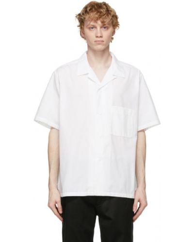 Biała koszula krótki rękaw bawełniana Nanamica