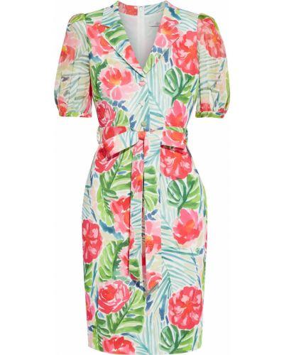 Текстильное платье на крючках с подкладкой Badgley Mischka