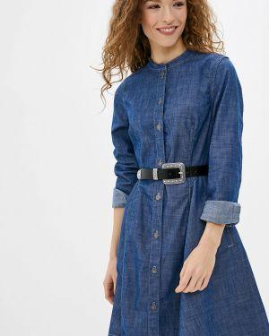 Джинсовое платье осеннее синее G-star