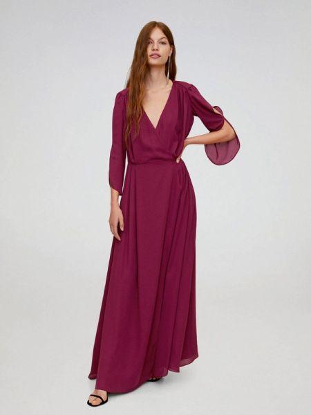 Вечернее платье весеннее фиолетовый Mango